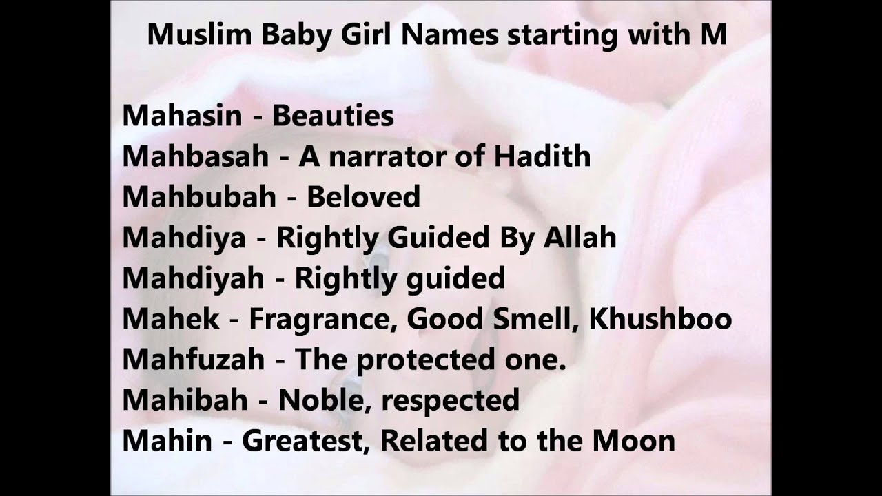 Muslim Baby Girl Names From M Unique And Modern Arabic