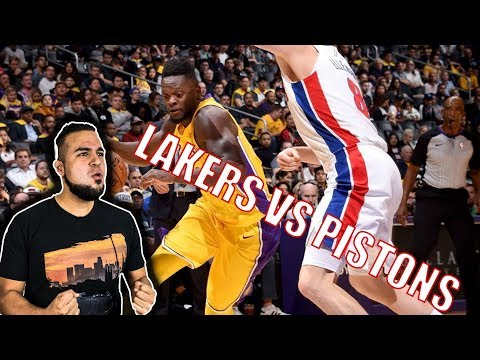 LAKERS VS PISTONS HIGHLIGHTS REACTION! LAKERS PLAYED DEFENSE AGAIN! RANDLE AND KUZMA STEPPING UP!