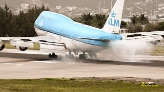 4K | St Maarten Amazing Plane landing and Takeoff footage at Princess Juliana Airport # 11