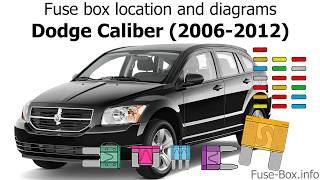 [SCHEMATICS_48IU]  Fuse box location and diagrams: Dodge Caliber (2006-2012) - YouTube | 2007 Dodge Caliber Fuse Box Diagram Abs Fuse |  | YouTube