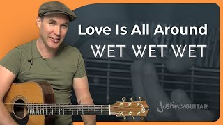 Love Is All Around - The Troggs / Wet Wet Wet (Easy Song Beginner Guitar Lesson BS-708) How to play