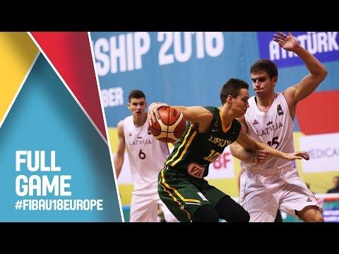 Latvia v Lithuania - Live - FIBA U18 European Championship 2016