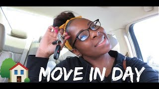 Moving Vlog 3  GOT THE KEYS | Move In Day