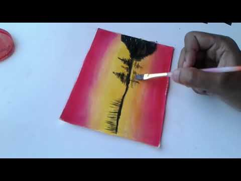 SIMPLE DIY LANDSCAPE PAINTING | SOUTH AFRICAN YOUTUBER | ART TUTORIAL thumbnail