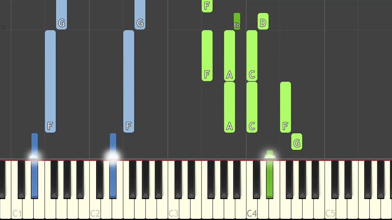 Calum Scott You Are The Reason Piano Cover Synthesia