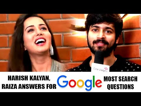 Raiza & Harish Kalyan Answers For Google's Most Searched Words | VJ Propose to Raiza | Interview