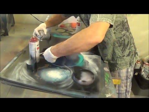 Spray paint art :COLISEUM style ROME style street art april 2016