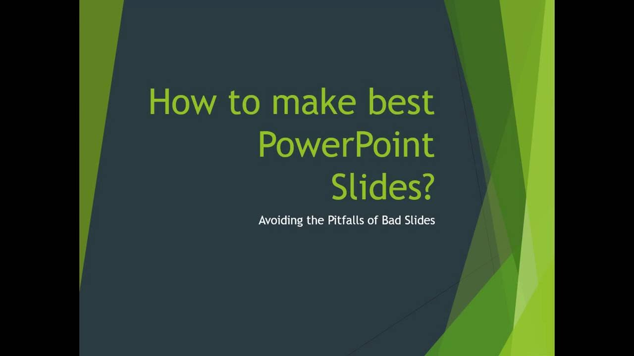 How to make a power point presentation