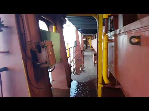 Container Ship - Upper Deck Walk Around - MV Kowloon Bay