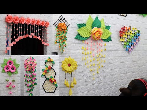 25 Best collection paper flower wall hanging craft ideas