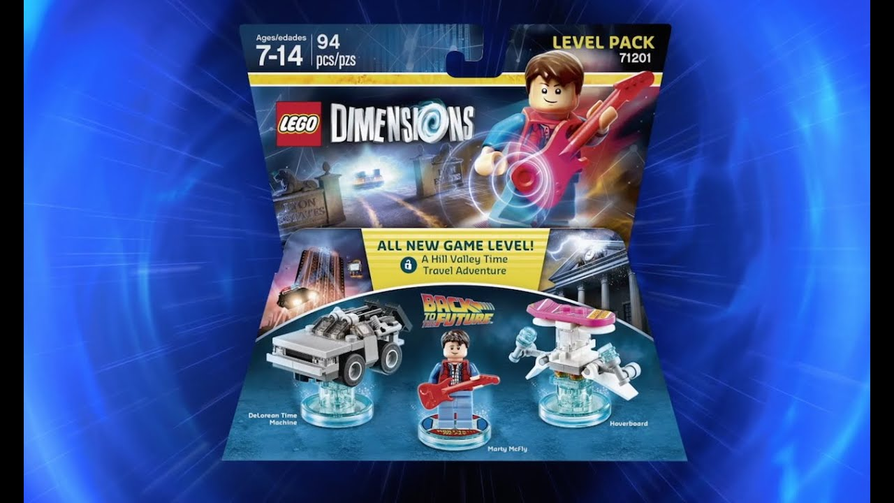 LEGO Dimensions De LOREAN TIME MACHINE Split from Back to the Future 71201