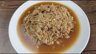 Stir-Fry Enoki Mushroom (炒金针菇)