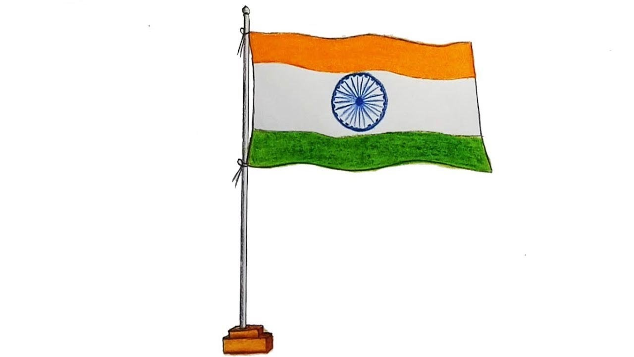 How To Draw Indian Flag Step By Step Very Easy Youtube