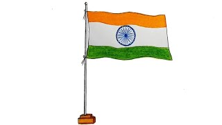 Gambar cover How to draw Indian flag step by step (very easy)