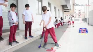 Bilge Adam okulları 5/F öğrencileri, Beden Eğitimi dersinde  golf sporu ile tanıştı