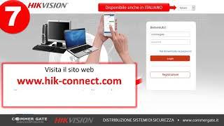 HIKVISION  - Cloud Hik-Connect Configurazione collegamento remoto (www.commergate.it)