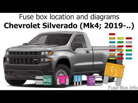 Fuse    box location and diagrams  Chevrolet    Silverado     mk4