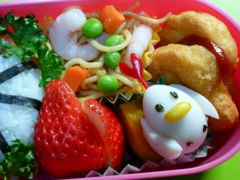 How To Make A Bento (#10 Happy Easter! Egg Cutting Technique)ニワトリちゃん弁当