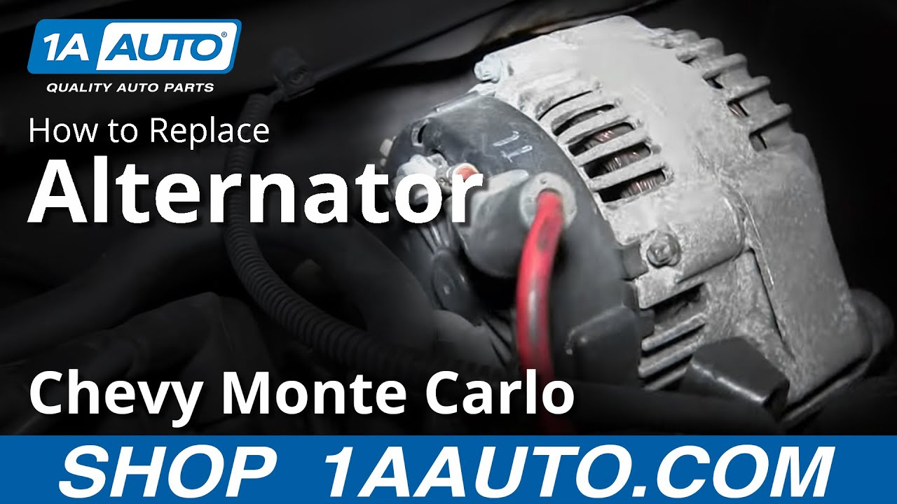 How To Install Replace Alternator 2000 05 34l Chevy Monte Carlo Wiring A For Tracker Youtube