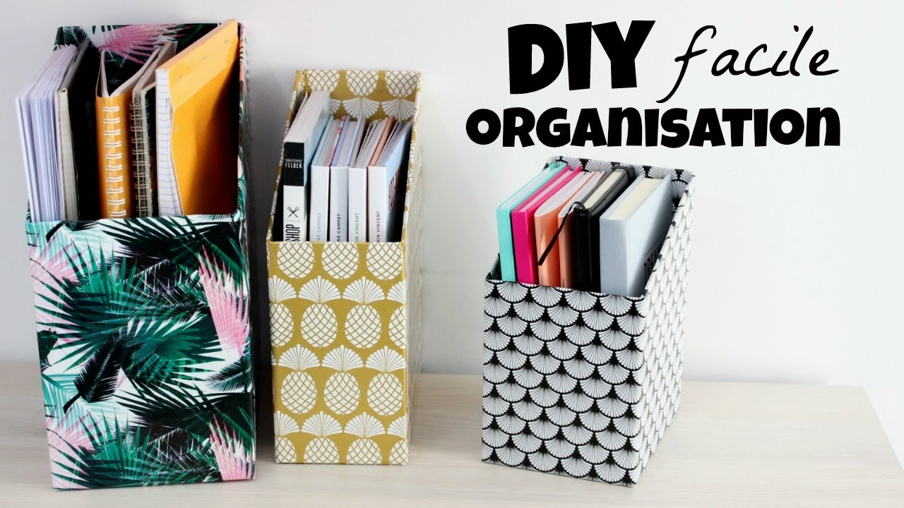 diy un rangement pour vos livres et cahiers youtube. Black Bedroom Furniture Sets. Home Design Ideas