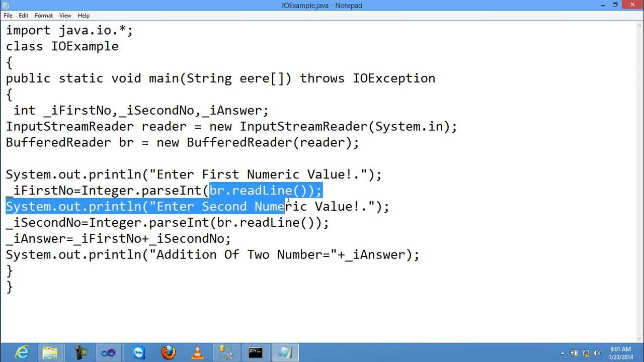 How To Use Inputstreareader And Bufferedreader In Core Java Youtube