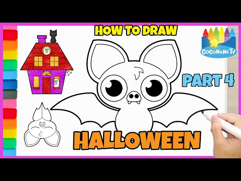 HALLOWEEN STUFFS  part 4 - How to Draw and Color - Coconana