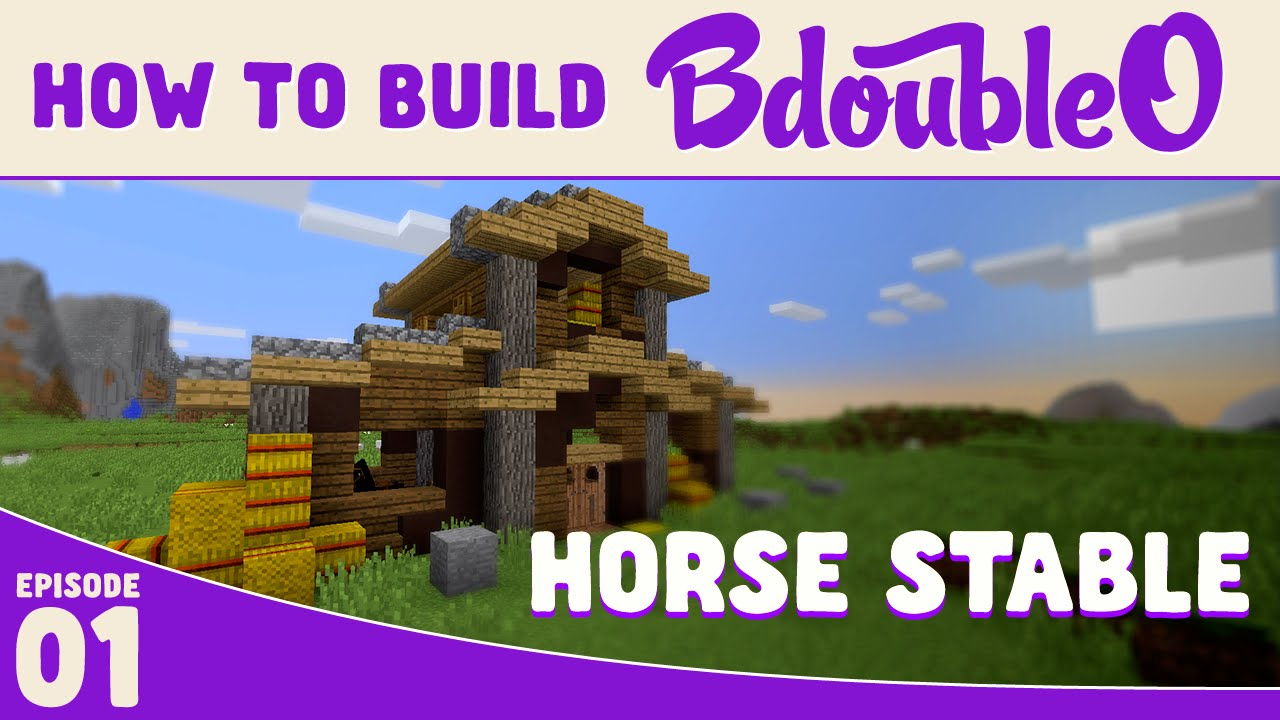 Minecraft how to build cool horse stable youtube for How to build horse barn