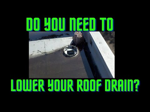 #9 How to install a roof drain on a flat roof. Learn from the pro's at All Tech Plumbing