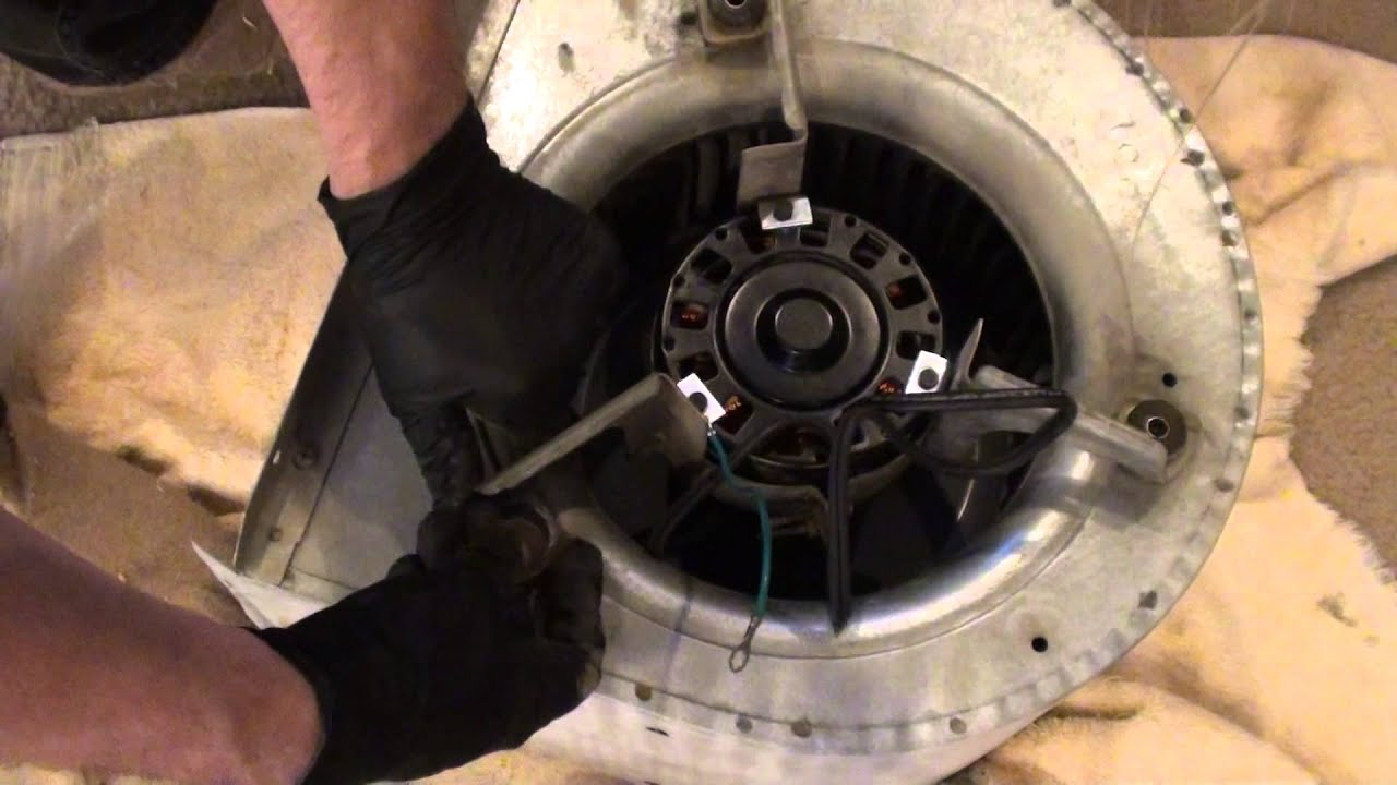 Replacing the blower motor in my Nordyne(miller) furnace - YouTube on
