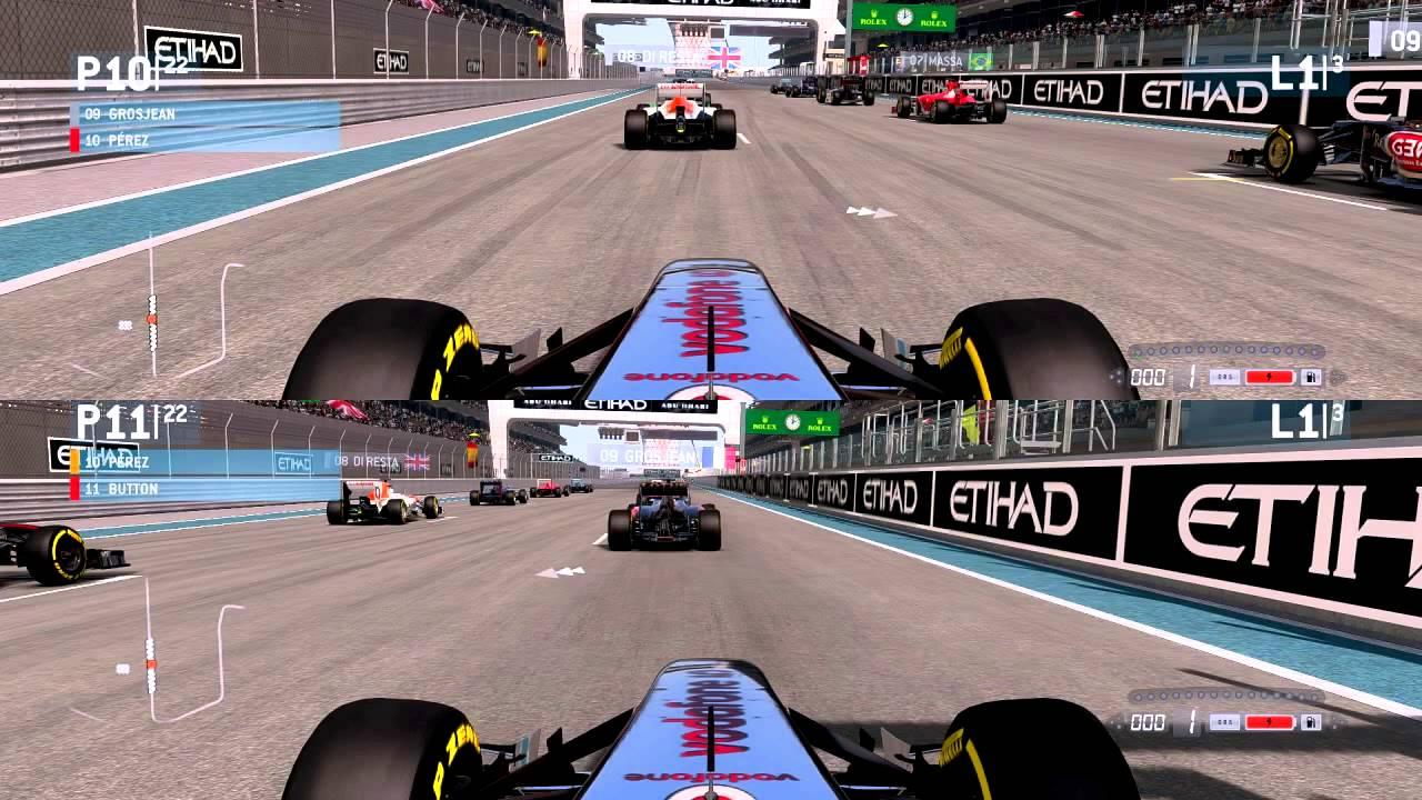 F1 2013 split screen