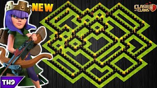 NEW TOWN HALL 9 TROPHY BASE 2018! TH9 HYBRID BASE APRIL UPDATED!! - CLASH OF CLANS(COC)