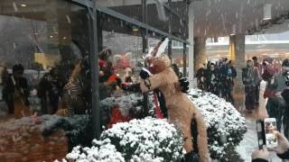 MFF 2016 Telephone outside in the snow (HD)