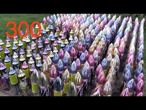 Setting off 300 Rockets ALL AT ONCE