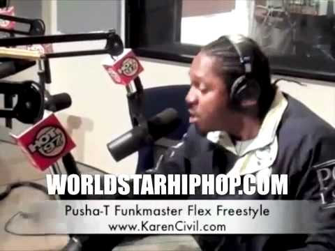 Video  Pusha T Freestyle With Funkmaster Flex On Hot 97!