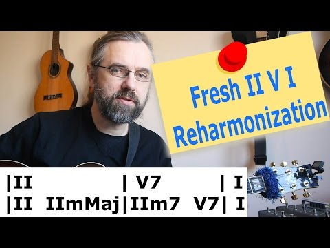 Refreshing II V I reharmonization 💡 - Great melodic trick!