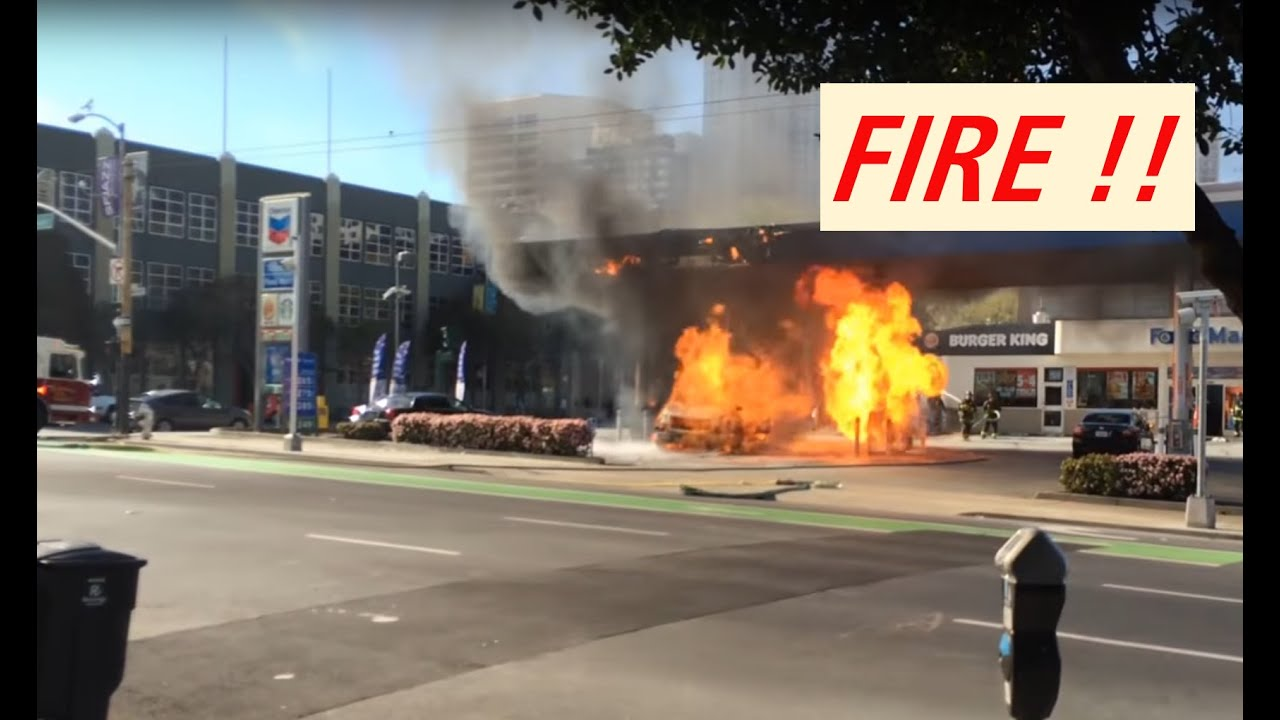 Gas Station FIRE in San Francisco Full Version with