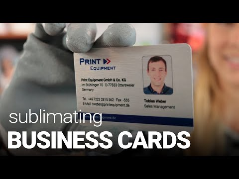 How To Sublimate Aluminium Business Cards