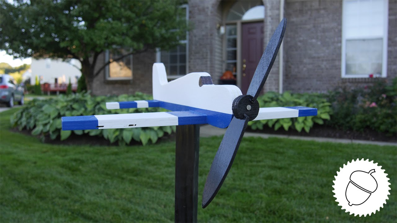 How To Make An Airplane Whirligig Free Template Youtube