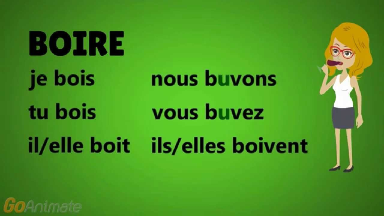 French With Adel Verbe Boire Youtube