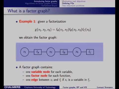 ML Tutorial: Factor Graphs, Belief Propagation and Variational Techniques (Lennart Svensson)