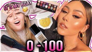 1 HOUR BIRTHDAY TRANSFORMATION GRWM | 0-100 makeup and hair 😍 Roxette Arisa