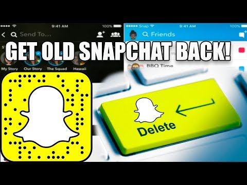 How To Get OLD Snapchat Back! 3 METHODS! (Fast and Easy) (Downgrade Snapchat)