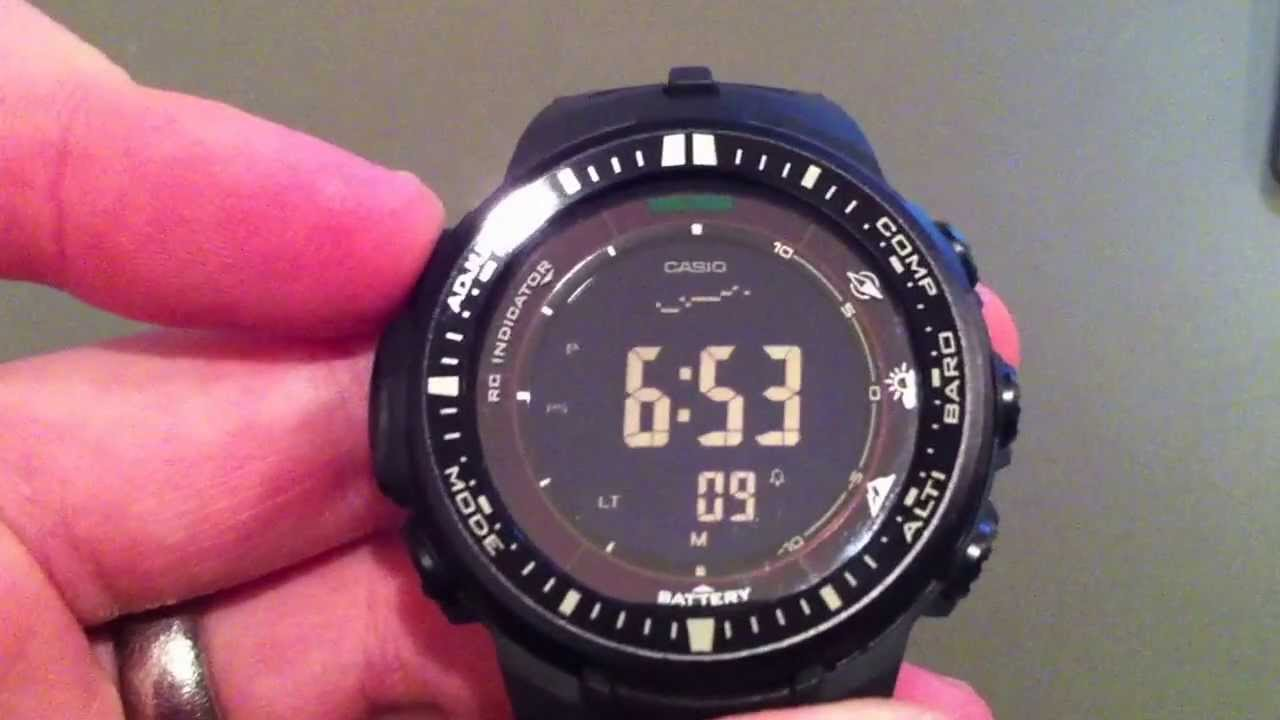 Casio Protrek PRW-3000-1A Watch - YouTube 3a8d99acd