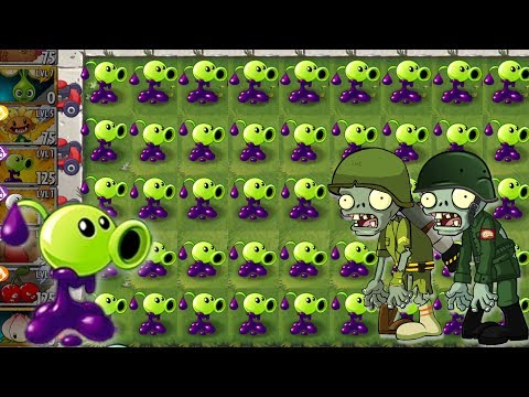 Goo Peashooter Challenge Power Up in Plants vs Zombies 2 New Level Up Massive Attack and Peashooter