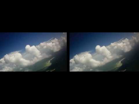 Come fly around the clouds 3D SBS, Format: Google Cardboard or VR