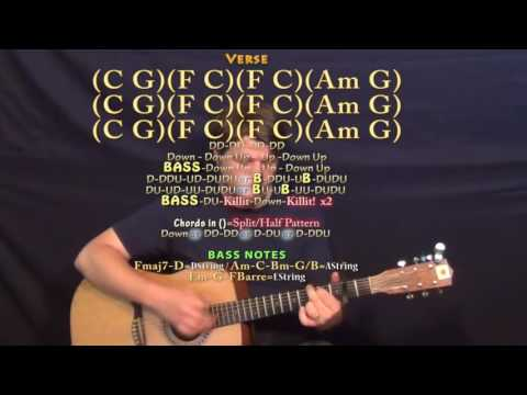 Bad Things (Machine Gun Kelly) Guitar Lesson Chord Chart - Capo 2nd