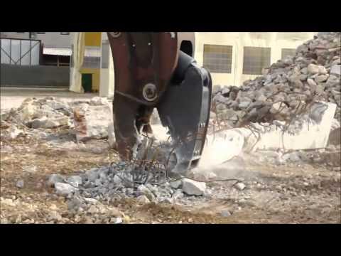 Video Sekundární rotační demoliční nůžky VTN série FP