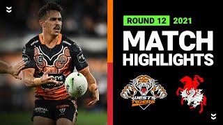 Wests Tigers v Dragons Match Highlights   Round 12, 2021   Telstra Premiership   NRL