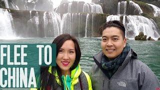 Video FLEE TO CHINA! - The Road to Ban Gioc Waterfall, Cao Bang download MP3, 3GP, MP4, WEBM, AVI, FLV Juli 2018