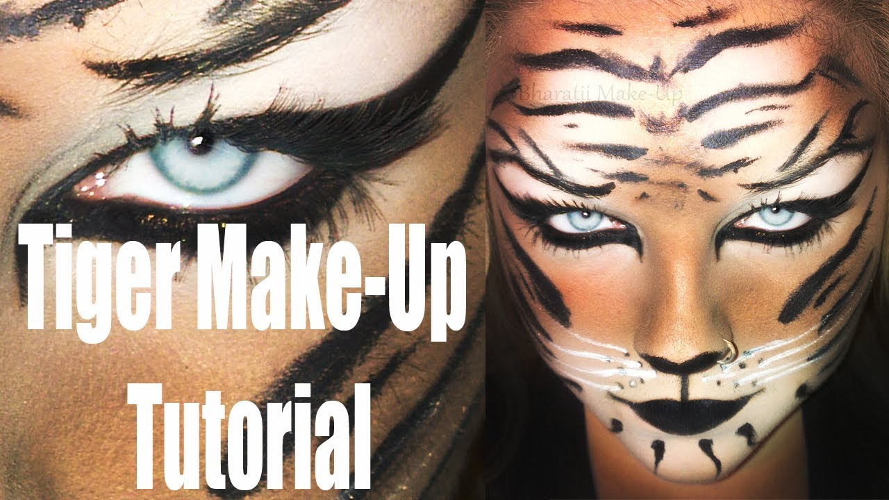 Simple Karneval Halloween Tiger Make Up Tutorial Hd Deutsch